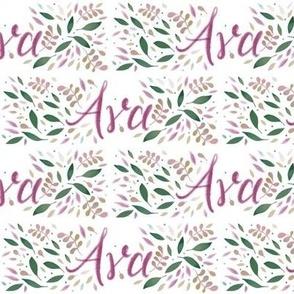 Medium Handlettering Name Ava