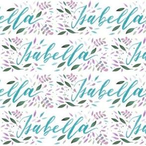 Medium Handlettering Name Isabella