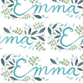 Large Handlettering Name Emma