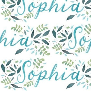 Large Handlettering Name Sophia