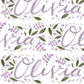 Large Handlettering Name Olivia