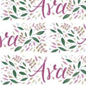 Large Handlettering Name Ava