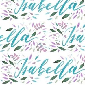 Large Handlettering Name Isabella