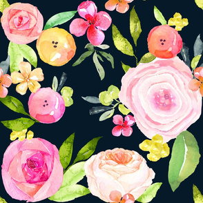 Spring Peonies, Roses, and Poppies- Custom for Kristi