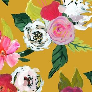 Painted Rose Garden // Mustard