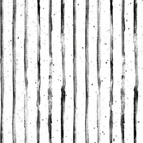 Small // Black and White Abstract Stripes // Rotated