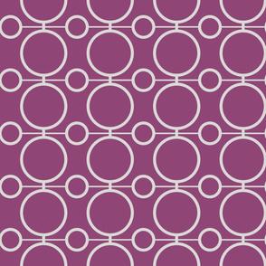 geo circles - mauve and gray