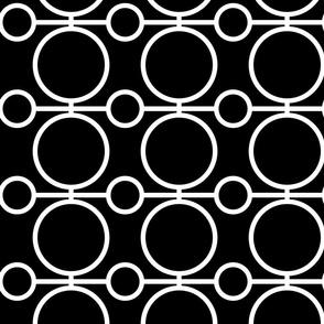geo circles - black and white 2