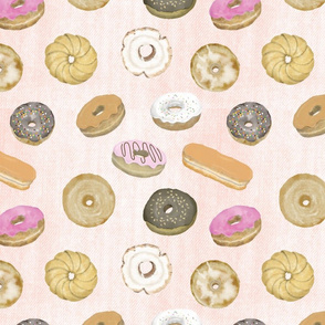 Donuts on Coral Denim
