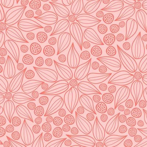 Coral floral pattern texture