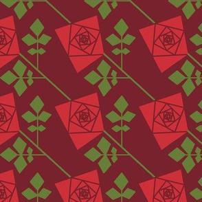 The Geometry of Roses - solid red