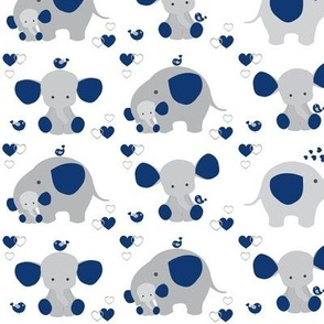 Navy Blue Elephant Baby Boy Nursery