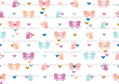 Paper Valentines* || cut hand hands heart hearts valentine day love pastel symbol pink coral aqua