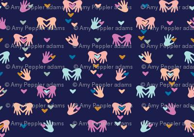 Paper Valentines* (Jackie Blue) || cut hand hands heart hearts valentine day love pastel symbol pink coral aqua