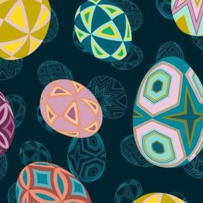 Pysanky Eggs Geometric Patterns