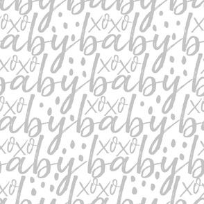 Grey Baby Gift Wrap