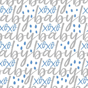 Blue and Grey Baby Gift Wrap
