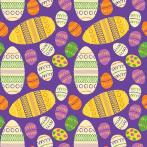 Easter Eggs ~ on Purple