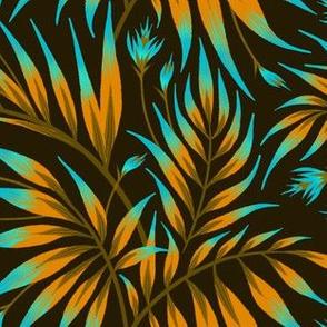 Waikiki Palm - Orange / Teal - AM2019