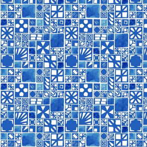 Abstract Blue Tiles