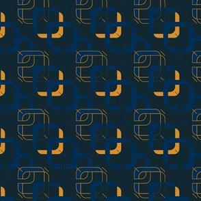 Chain orange blue