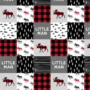 "1.5"" small scale - little man patchwork quilt top 