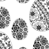 Pysanky black and white
