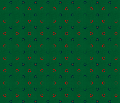 1 inch grunge green with navy red and white dots and circles fabric by glimmericks on Spoonflower - custom fabric