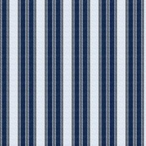 wavy stripes - glue white on gray and navy