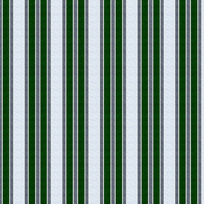wavy stripes - green white on gray and navy