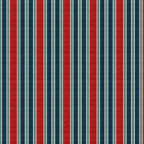 wavy stripes - red blue  on gray and green