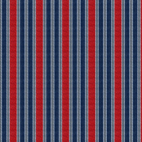 wavy stripes - red blue  on gray and navy
