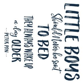 "42""x36"" Little Boys Quote / Navy"