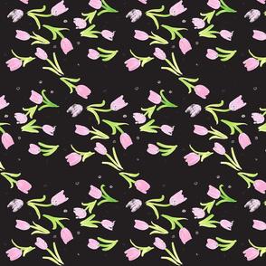 dancing tulips watercolor-ch