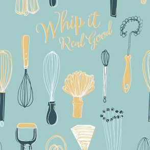 Whip it Real Good Retro Whisks