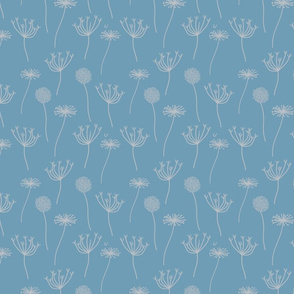 Floral Pattern on Seafoam Blue