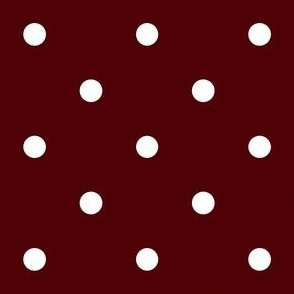 Polka Dotties // White on Aggie Red