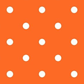 Polka Dotties // White on Orange
