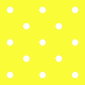 Polka Dotties // White on Yellow