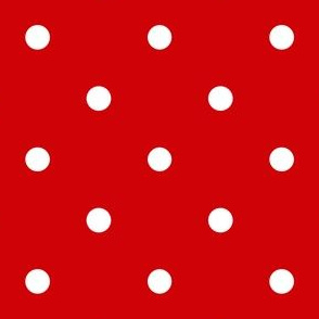 Polka Dotties // White on Red