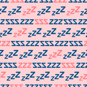 catching zzzs - blue pink