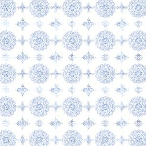 Circle Mandala with dotted texture light blue