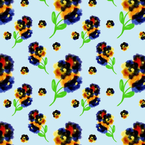 Pansy Floral Repeat