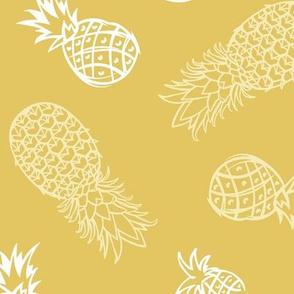 Beige pineapples pattern