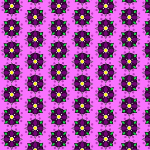purple circle flower