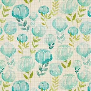 Bella Blue Floral Pattern 1 Vintage