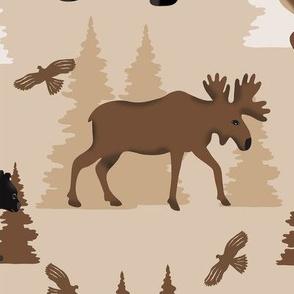 Deer Bear Moose Large