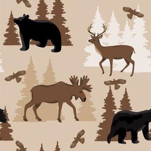 Deer Bear Moose Medium