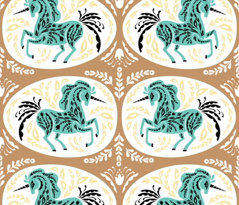 Magical Eggs in Gold wallpaper - pinkowlet - Spoonflower