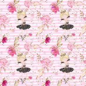 ballerina floral stripe